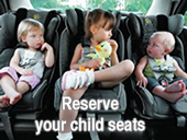 Bourgas taxis child seats